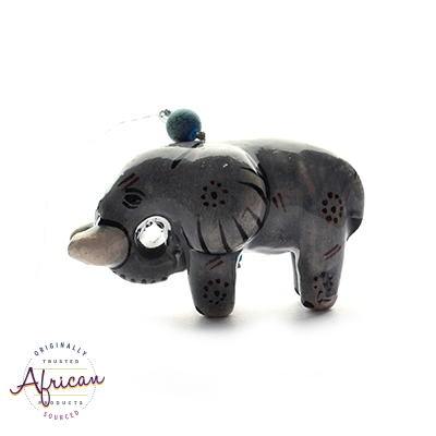 Ceramic Christmas Decoration Elephant