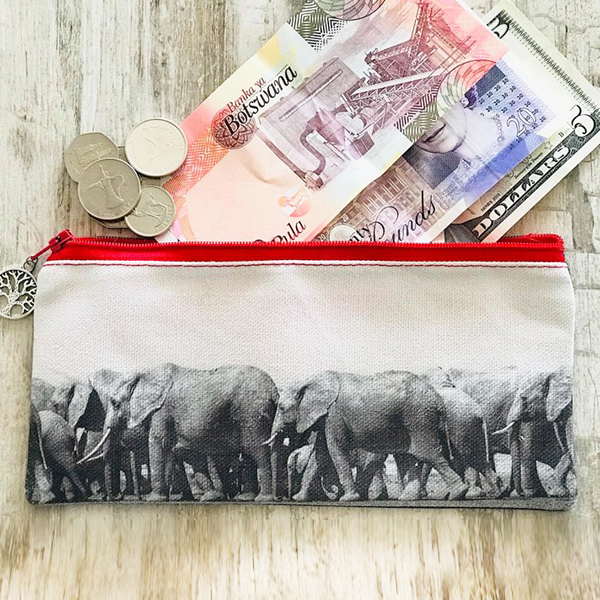Stationery Bag/Pencil Case - Elephants (The Herd)