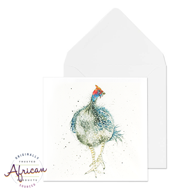 Greetings Card - Strutting Guinea Fowl