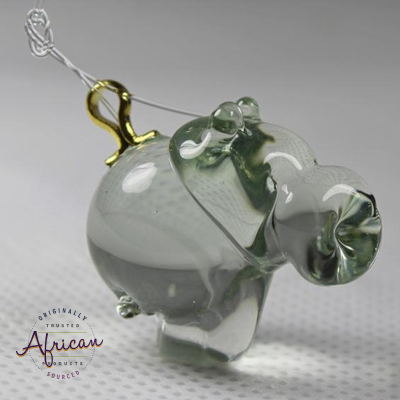 Ngwenya Glass - Hippo - Christmas Decoration