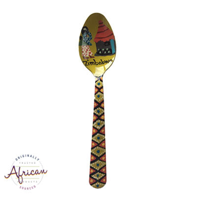 Painted Teaspoons - Fridge Magnet: Going Home
