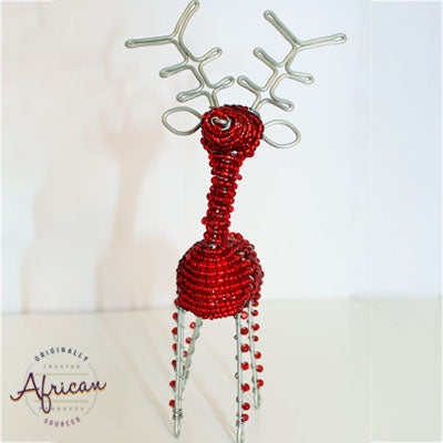 Beaded Christmas 3D Reindeer - Red