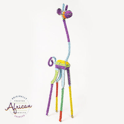 Beaded Colourful Giraffe