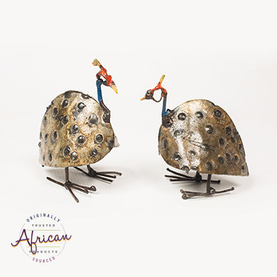 Recycled Metal Guinea Fowl (Individual)