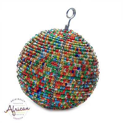 Beaded Large Christmas Balls (Multi-Coloured)