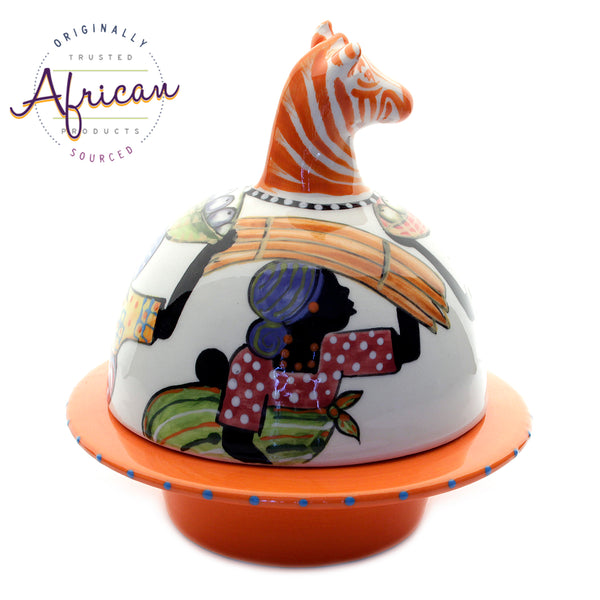 Ceramic Domed Butter Dish Shashi