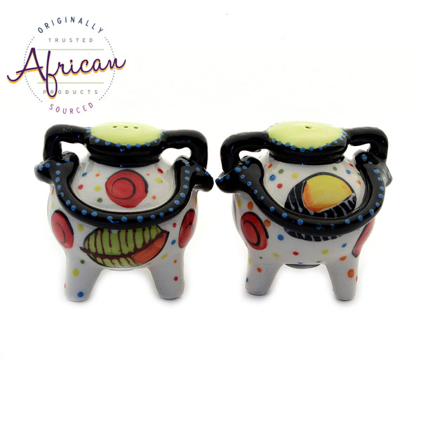 Ceramic Boma Salt and Pepper Set Khoi Khoi