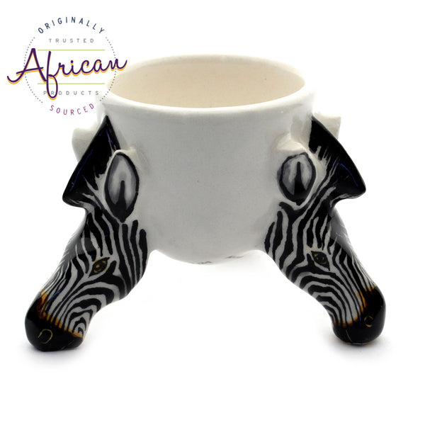 Ceramic Safari Egg Holder Zebra