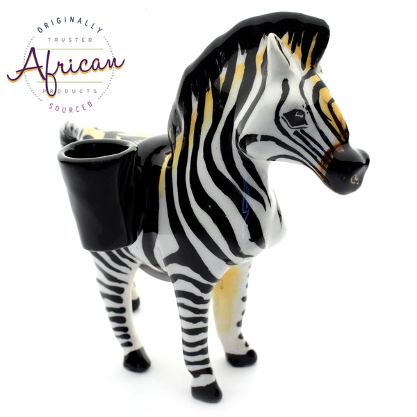 Ceramic 3D Toothpick Holder Zebra
