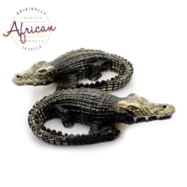 Ceramic 3D Salt and Pepper Set Crocodile