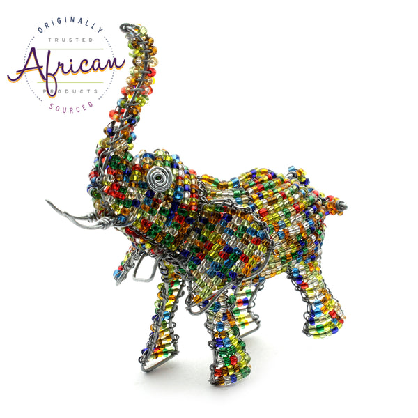 Beaded Mini-Animals - Elephant figurine