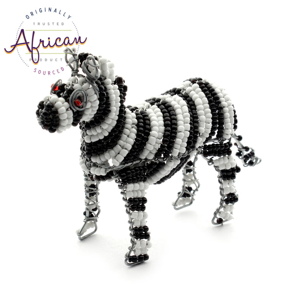 Beaded Mini-Animals - Zebra figurine
