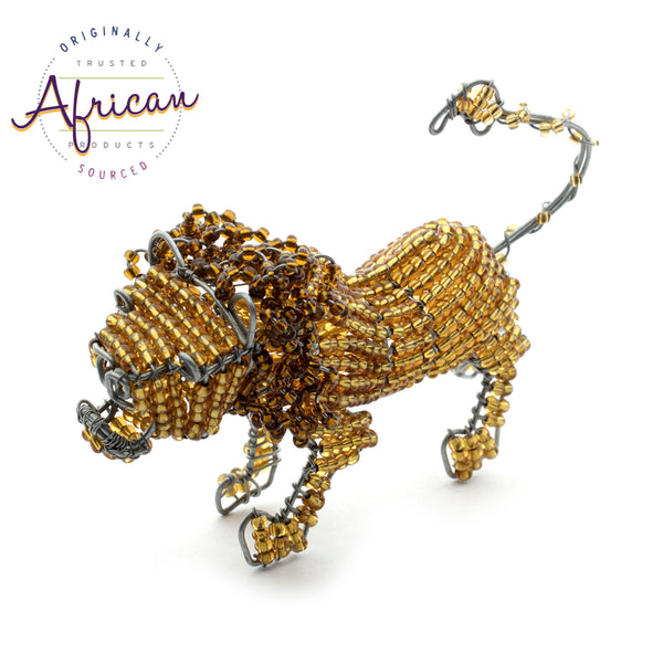 Beaded Mini-Animals - Lion figurine