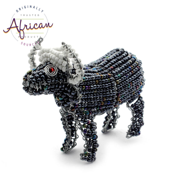 Beaded Mini-Animals - Buffalo figurine