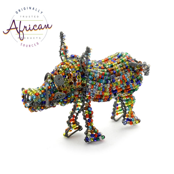 Beaded Mini-Animals - Warthog figurine