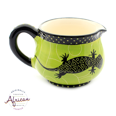 Ceramic Milk Jug Green Lizard