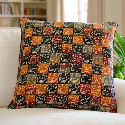 Kudhinda Cushion Cover 50x50cm –  Guinea Fowl (Naturals)