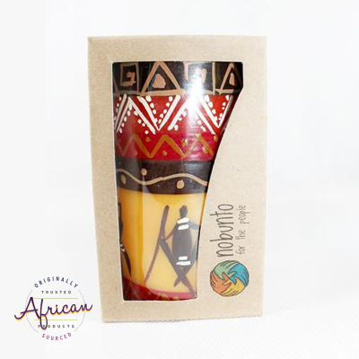 1 x  Pillar Candle in Recycled Gift Box - Damisi