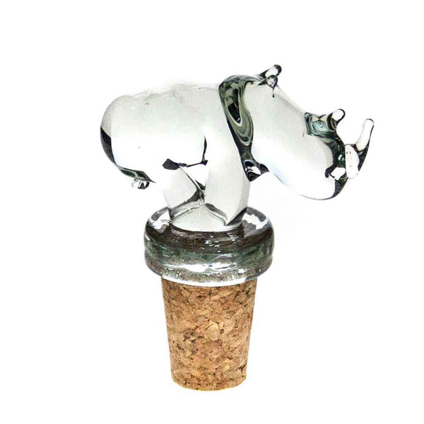 Ngwenya Glass - Rhino - Wine Stopper