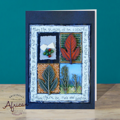 Hand Made African Greetings Card - Seasons