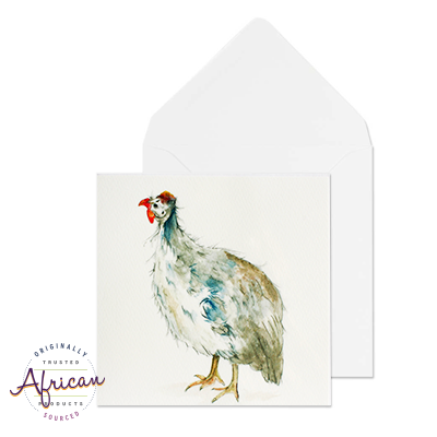 Greetings Card - Guinea Fowl Taking a Stand