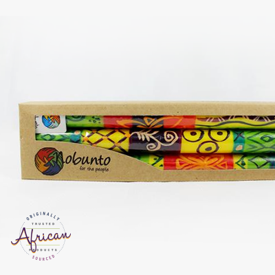 3 x Tall Dinner Candles in Recycled Gift Box - Matuko