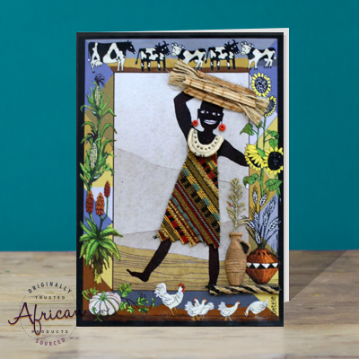 Hand Made African Greetings Card - Thandi
