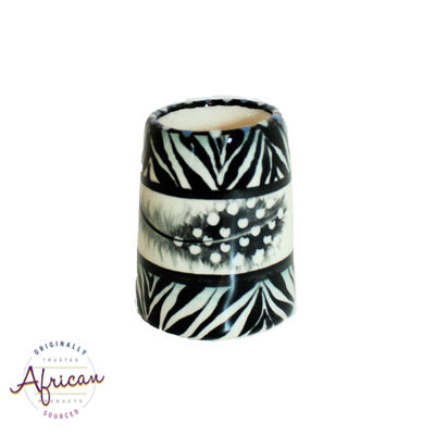 Ceramic Toothpick Holder Ndebele
