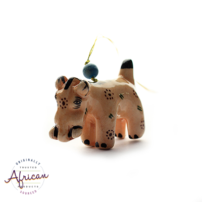 Ceramic Christmas Decoration Warthog