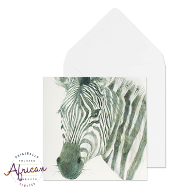 Greetings Card - Zebra