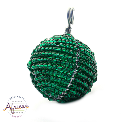 Beaded Christmas Ball Small (Green)