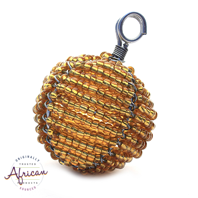 Beaded Christmas Ball Small (Gold)