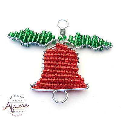 Beaded Christmas Bells (Red and Green)