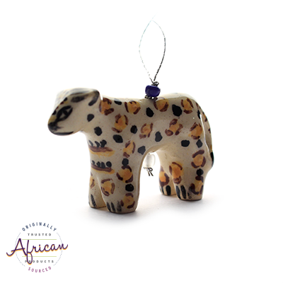 Ceramic Christmas Decoration Cheetah
