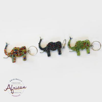 Beaded Key Chain - Elephant