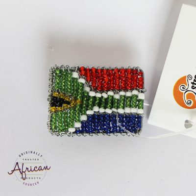 Beaded Magnet - South African Flag