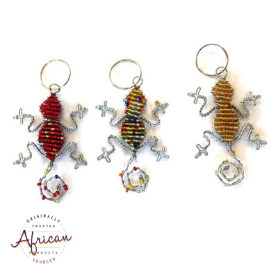 Beaded Key Chain - Gecko/Lizard