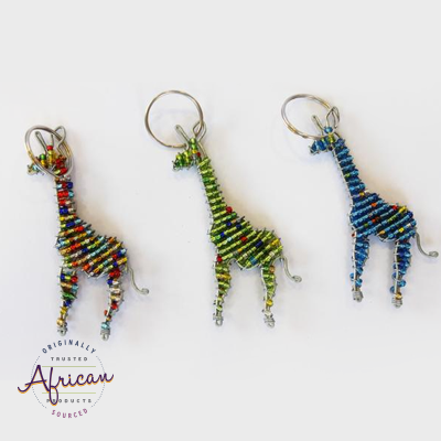 Beaded Key Chain - Giraffe
