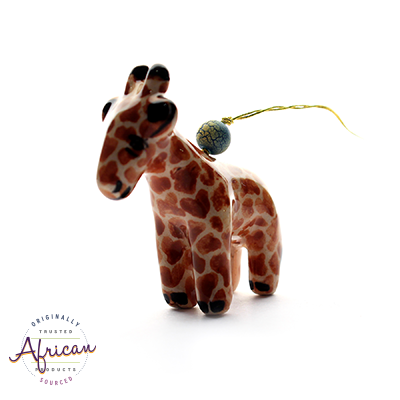 Ceramic Christmas Decoration Giraffe
