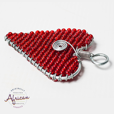 Valentine Heart Keyring With Swirl
