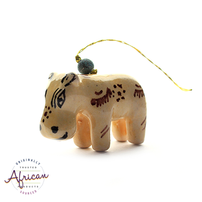 Ceramic Christmas Decoration Hippo