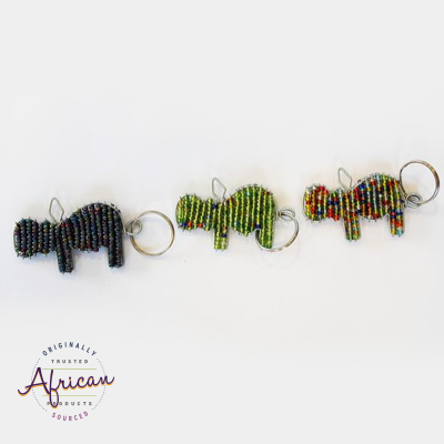 Beaded Key Chain - Hippo