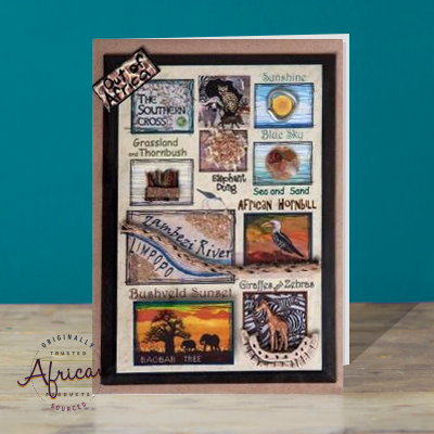 Hand Made African Greetings Card - Out of Africa