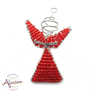 Beaded Christmas Angels (Red)