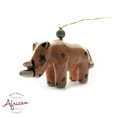 Ceramic Christmas Decoration Rhino