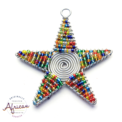 Beaded Christmas Star (Multi Coloured)