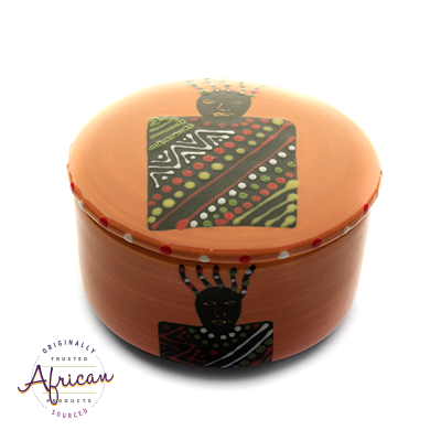 Ceramic Round Trinket Box Zulu