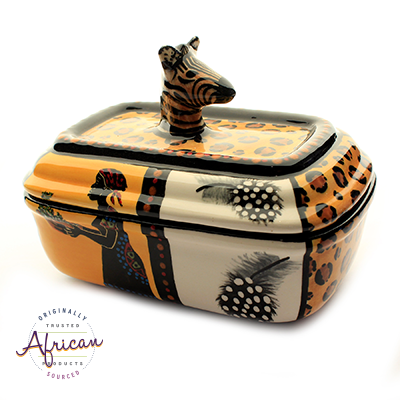 Ceramic Rectangular Butter Dish Shona