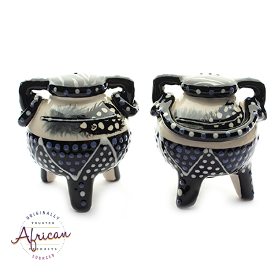 Ceramic Boma Salt and Pepper Set Ndebele