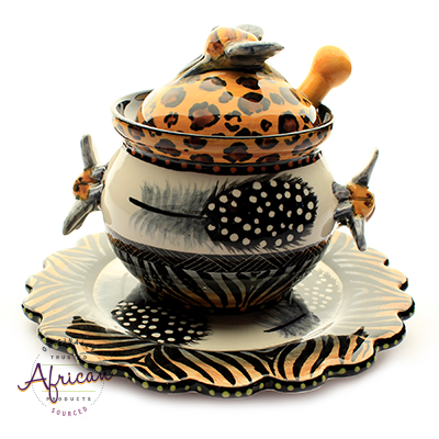 Ceramic Honey/Jam Sets Tribal